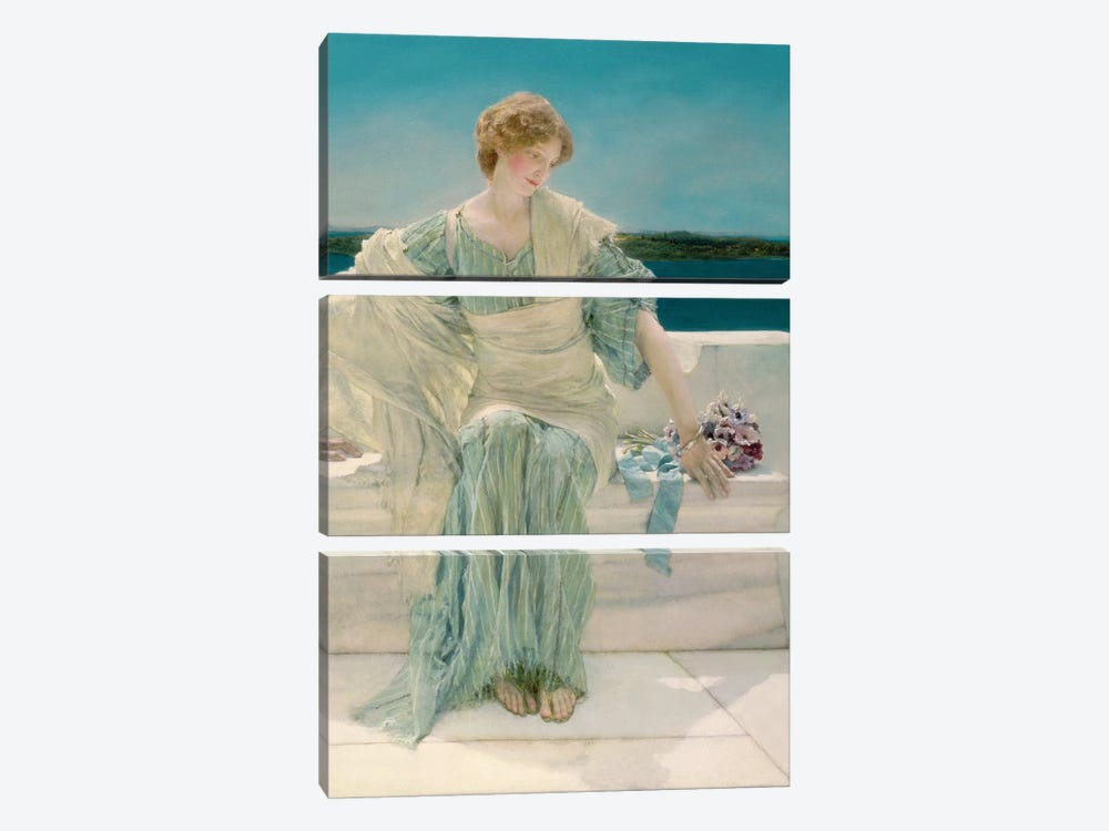Ask me no more, 1906 by Sir Lawrence Alma-Tadema 3-piece Canvas Print