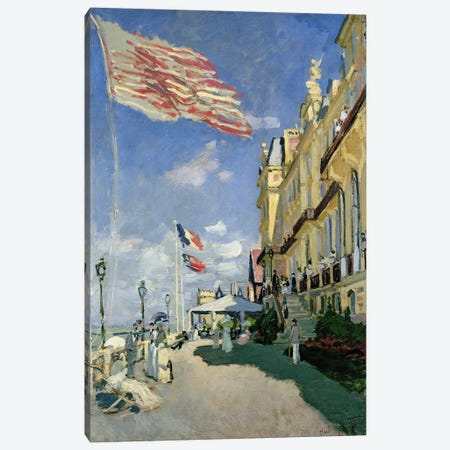 The Hotel des Roches Noires at Trouville, 1870  Canvas Print #BMN492} by Claude Monet Canvas Print