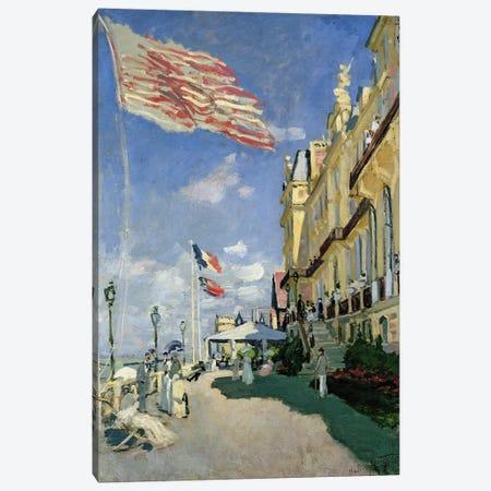The Hotel des Roches Noires at Trouville, 1870  Canvas Print #BMN492} by Claude Monet Canvas Print