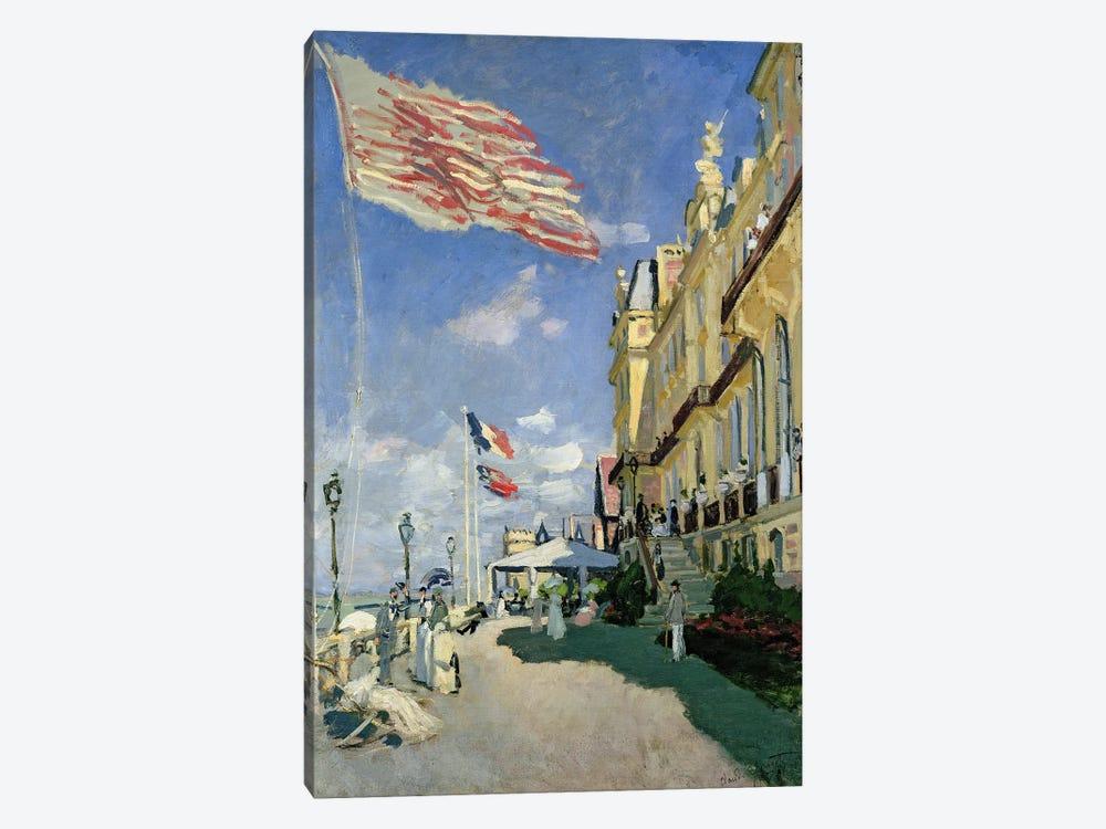 The Hotel des Roches Noires at Trouville, 1870  by Claude Monet 1-piece Canvas Print