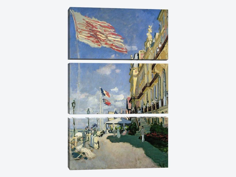 The Hotel des Roches Noires at Trouville, 1870  by Claude Monet 3-piece Canvas Art Print