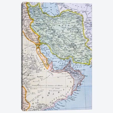 Map Of The Middle East Showing The Red Sea, Persian Gulf And Horn Of Africa (1890's), The Citizen's Atlas Of The World, c.1899  Canvas Print #BMN4930} by English School Canvas Artwork