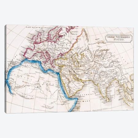 Map of Europe Northern Africa and Western Asia, Orbis Veteribus Notus, from 'The Atlas of Ancient Geography', by Samuel Butler, published in London, c.1829  Canvas Print #BMN4935} by English School Canvas Print