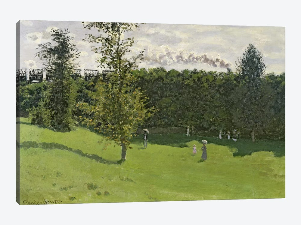 The Train in the Country, c.1870-71 by Claude Monet 1-piece Canvas Art