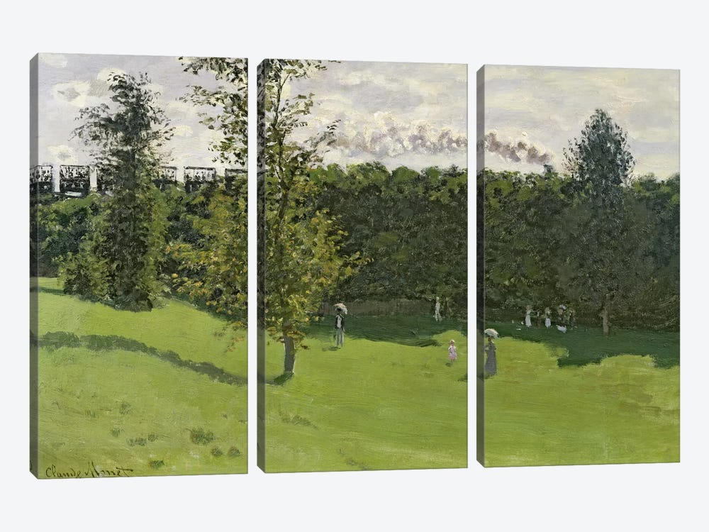 The Train in the Country, c.1870-71  by Claude Monet 3-piece Canvas Artwork