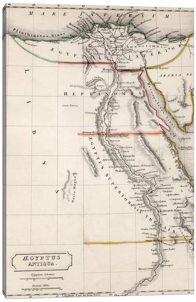 Map of Aegyptus Antiqua  Canvas Print #BMN4942