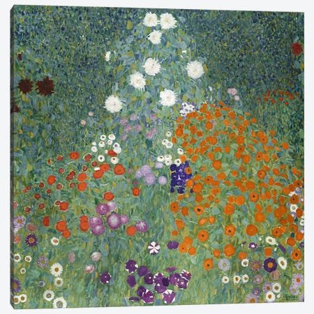 Bauerngarten (Cottage Garden), 1907  Canvas Print #BMN4949} by Gustav Klimt Canvas Print