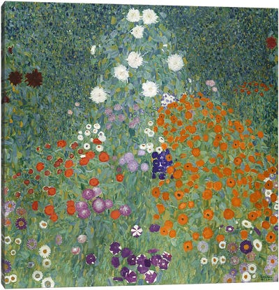 Bauerngarten (Cottage Garden), 1907  by Gustav Klimt Canvas Art Print