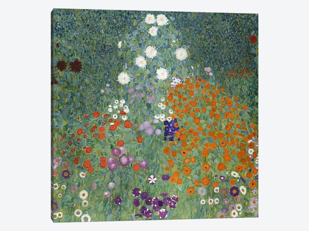 Bauerngarten (Cottage Garden), 1907  by Gustav Klimt 1-piece Canvas Art