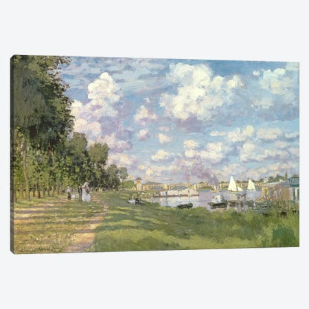 The Marina at Argenteuil, 1872  Canvas Print #BMN494} by Claude Monet Canvas Art