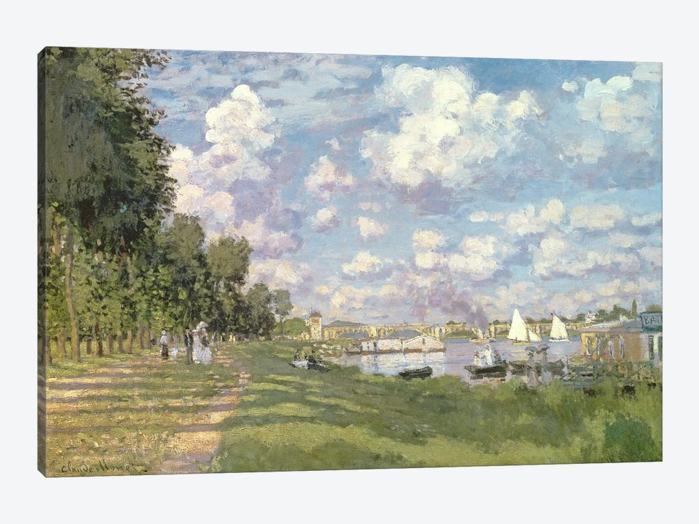 The Marina at Argenteuil, 1872 by Claude Monet 1-piece Canvas Print