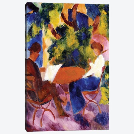 At the Garden Table, 1914  Canvas Print #BMN4953} by August Macke Canvas Artwork