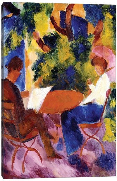 At the Garden Table, 1914  Canvas Art Print
