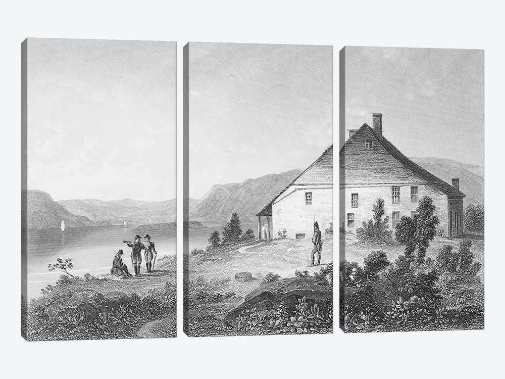 Washington's headquarters near Newburgh, from 'Gallery of Historical Portraits', published c.1880  by English School 3-piece Canvas Artwork