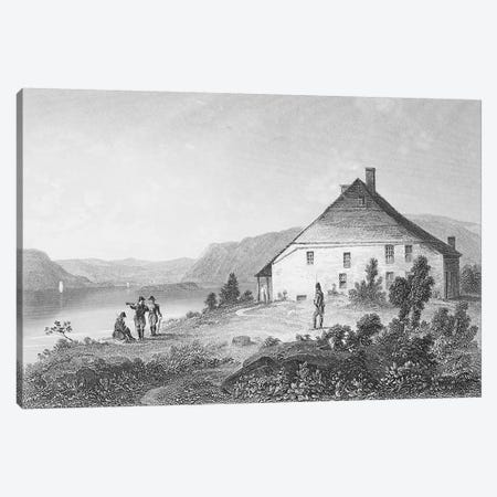 Washington's headquarters near Newburgh, from 'Gallery of Historical Portraits', published c.1880  Canvas Print #BMN4954} by English School Canvas Print