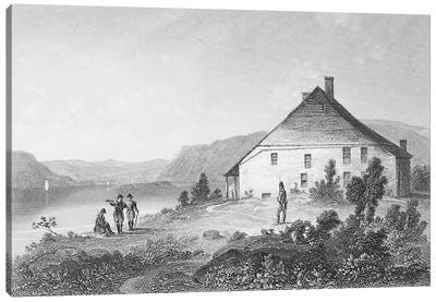Washington's headquarters near Newburgh, from 'Gallery of Historical Portraits', published c.1880  Canvas Art Print
