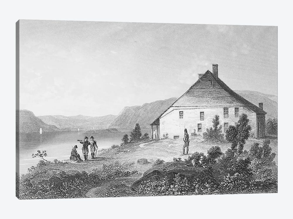 Washington's headquarters near Newburgh, from 'Gallery of Historical Portraits', published c.1880  by English School 1-piece Canvas Art