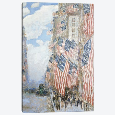 The Fourth of July, 1916  Canvas Print #BMN4956} by Childe Hassam Canvas Print