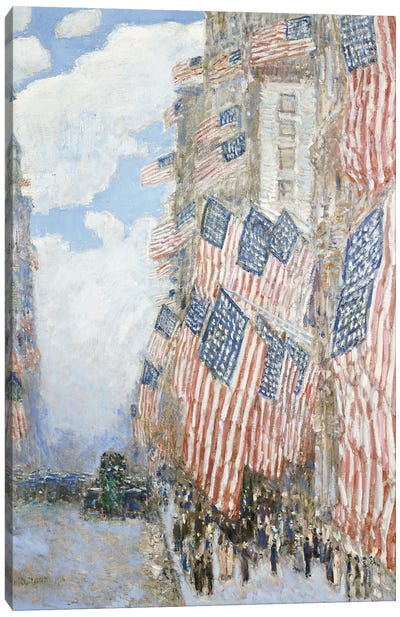 The Fourth of July, 1916  Canvas Art Print
