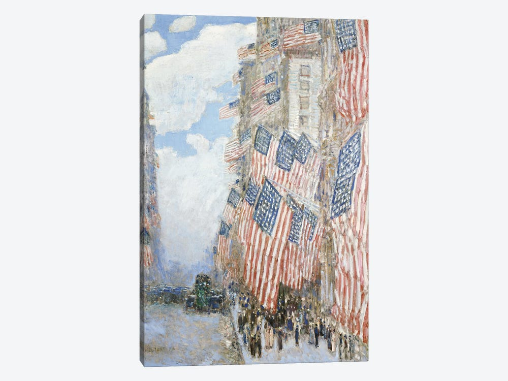 The Fourth of July, 1916  by Childe Hassam 1-piece Canvas Wall Art