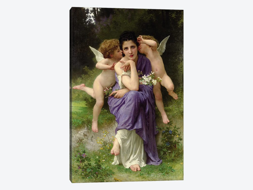Chansons de Printemps, 1889  by William-Adolphe Bouguereau 1-piece Canvas Artwork