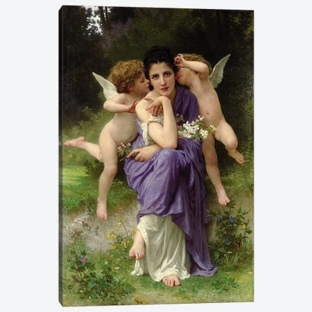 Chansons de Printemps, 1889  Canvas Print #BMN4958} by William-Adolphe Bouguereau Canvas Artwork