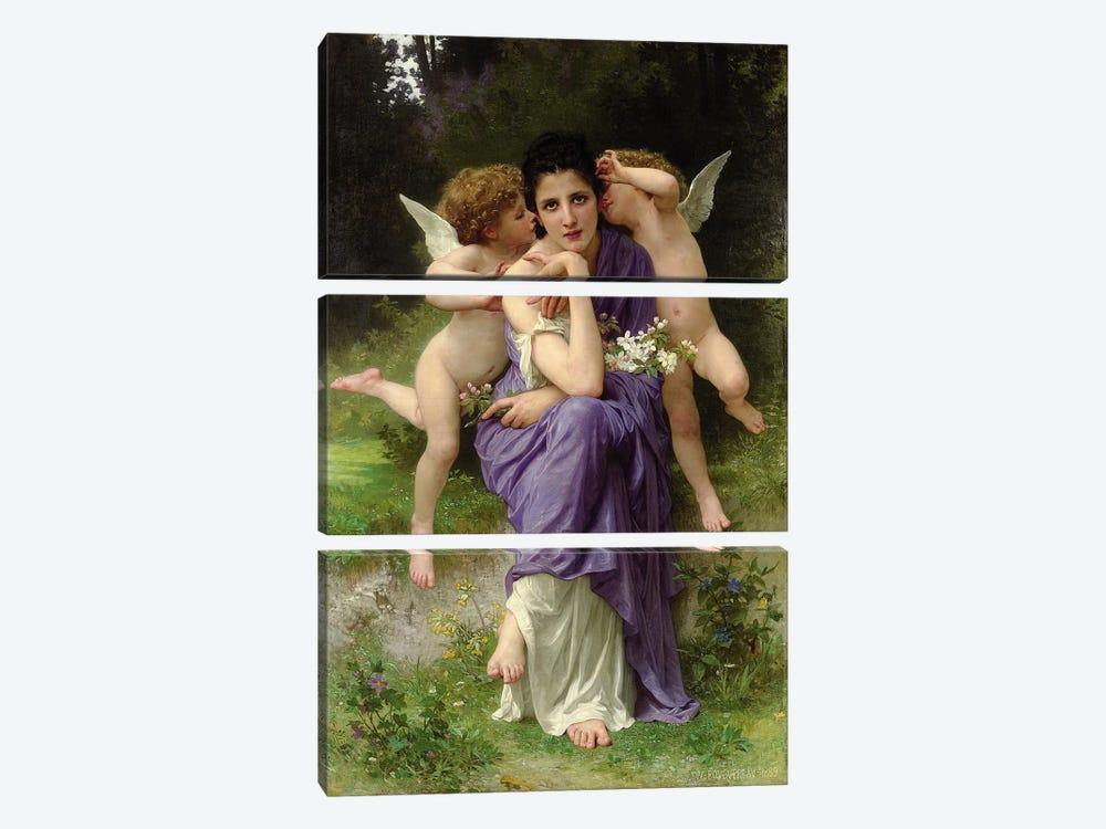 Chansons de Printemps, 1889  by William-Adolphe Bouguereau 3-piece Canvas Art