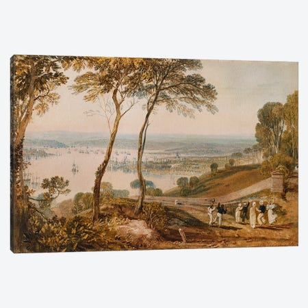 Plymouth Dock, from near Mount Edgecumbe  Canvas Print #BMN4962} by J.M.W. Turner Art Print