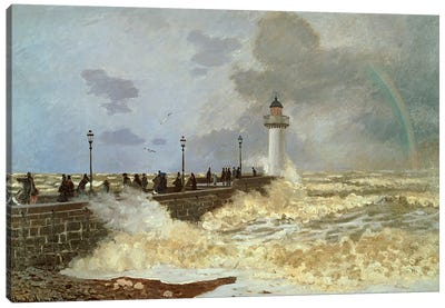 The Quay at Le Havre, 1868  Canvas Print #BMN4969