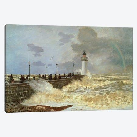 The Quay at Le Havre, 1868  Canvas Print #BMN4969} by Claude Monet Canvas Art Print