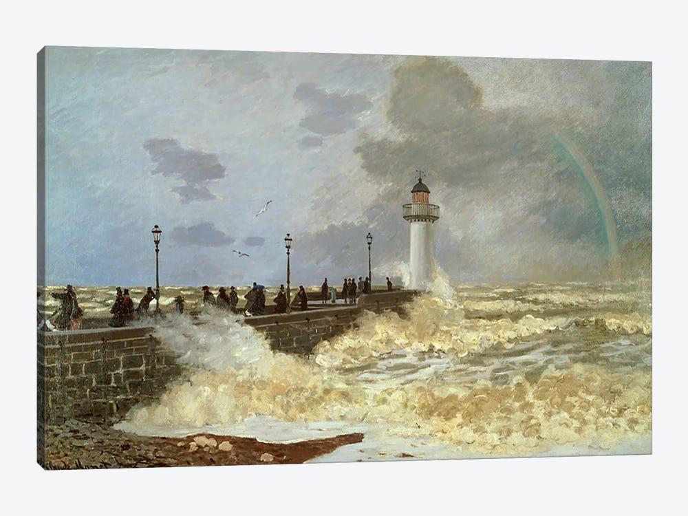 The Quay at Le Havre, 1868  by Claude Monet 1-piece Canvas Artwork