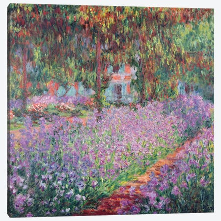 The Artist's Garden at Giverny, 1900  Canvas Print #BMN496} by Claude Monet Canvas Artwork