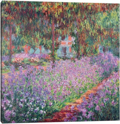 The Artist's Garden at Giverny, 1900  Canvas Art Print