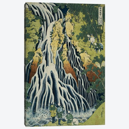 The Kirifuri Waterfall At Mt. Kurokami In Shimotsuke Province (Private Collection) Canvas Print #BMN4970} by Katsushika Hokusai Canvas Artwork