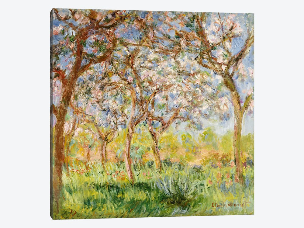 Spring at Giverny  by Claude Monet 1-piece Canvas Art Print