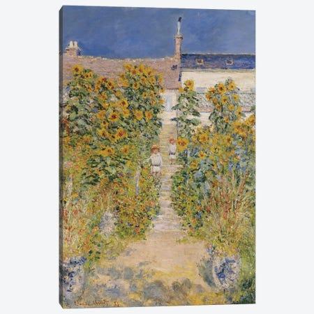 The Artist's Garden at Vetheuil  Canvas Print #BMN4978} by Claude Monet Canvas Wall Art