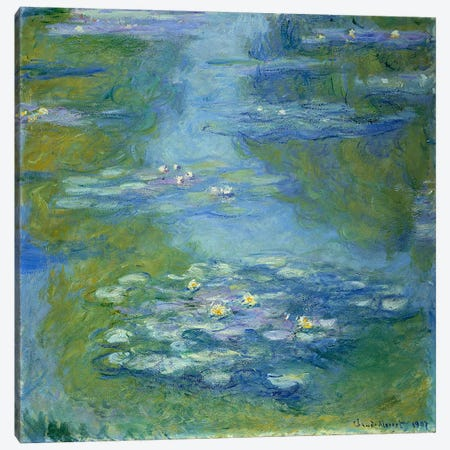 Waterlilies, 1907  Canvas Print #BMN4979} by Claude Monet Canvas Wall Art