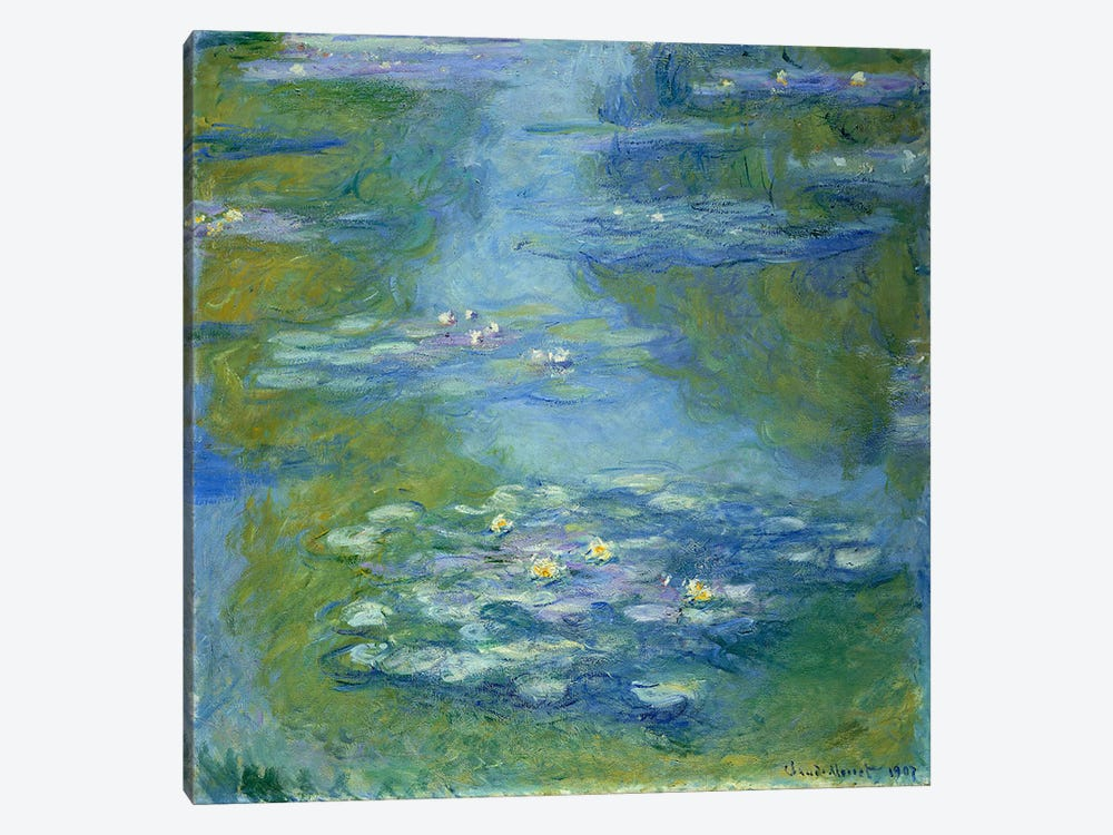 Waterlilies, 1907  by Claude Monet 1-piece Canvas Print