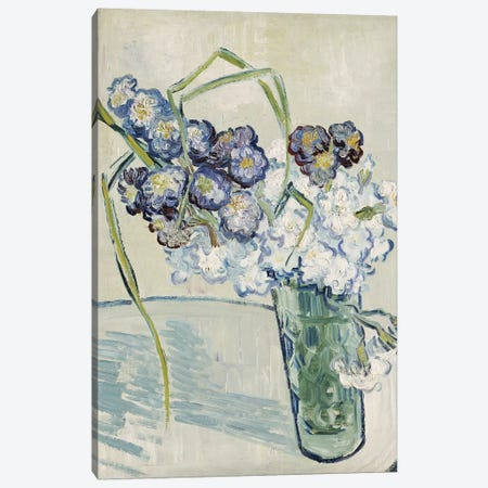 Still Life, Vase of Carnations, June 1890  3-Piece Canvas #BMN4981} by Vincent van Gogh Art Print