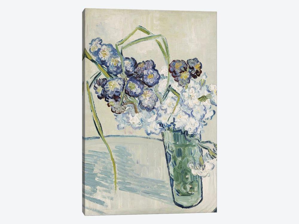 Still Life, Vase of Carnations, June 1890  by Vincent van Gogh 1-piece Canvas Art