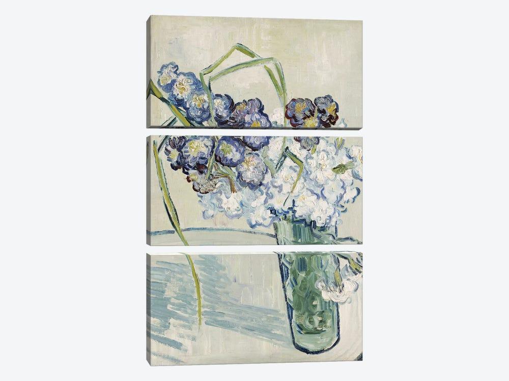 Still Life, Vase of Carnations, June 1890  by Vincent van Gogh 3-piece Canvas Artwork
