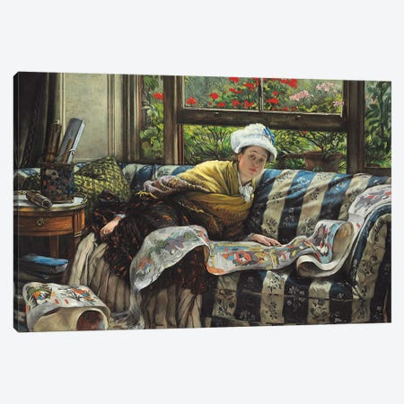 The Japanese Scroll  Canvas Print #BMN4988} by James Jacques Joseph Tissot Canvas Art Print