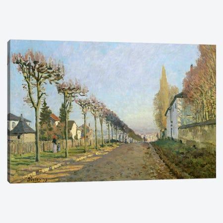 Rue de la Machine, Louveciennes, 1873  Canvas Print #BMN498} by Alfred Sisley Art Print