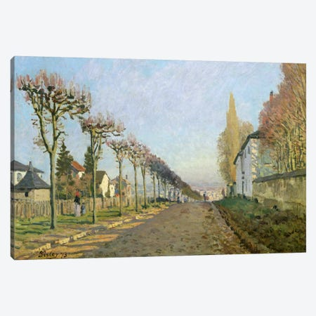 Rue de la Machine, Louveciennes, 1873  Canvas Print #BMN498} by Alfred Sisley Art Print