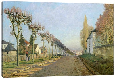 Rue de la Machine, Louveciennes, 1873 Canvas Art Print