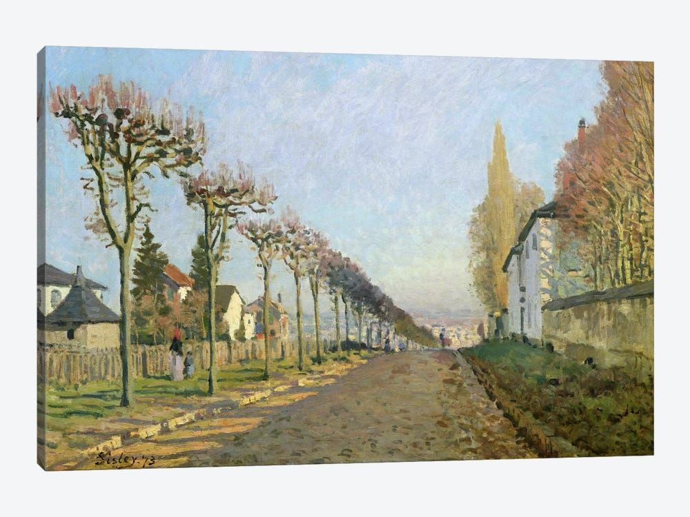 Rue de la Machine, Louveciennes, 1873 by Alfred Sisley 1-piece Art Print