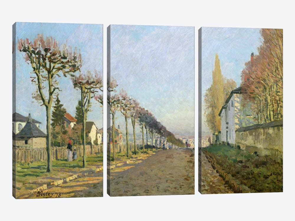 Rue de la Machine, Louveciennes, 1873  by Alfred Sisley 3-piece Art Print