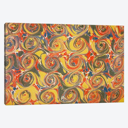 Decorative end paper IV Canvas Print #BMN4992} by English School Canvas Artwork