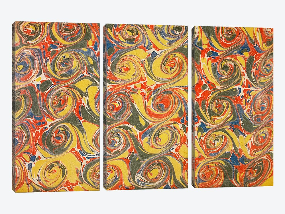 Decorative end paper IV by English School 3-piece Canvas Artwork