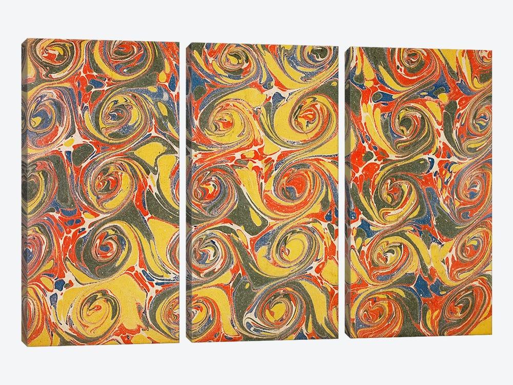Decorative end paper IV by English School 3-piece Canvas Artwork